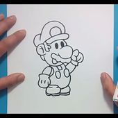 Como dibujar a Mario paso a paso - Videojuegos Mario | How to draw Mario - Mario video games