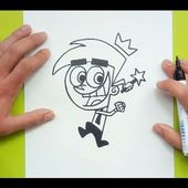 Como dibujar a Cosmo paso a paso - Los padrinos magicos | How to draw Cosmo - The Fairly OddParents