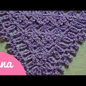 crochet triangular prayer shawl
