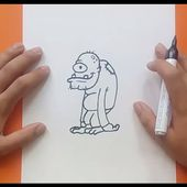 Como dibujar un monstruo paso a paso 16 | How to draw a monster 16