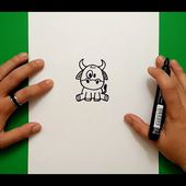 Como dibujar una vaca paso a paso 5 | How to draw a cow 5