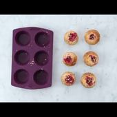 Tupperware Muffins with Berry Hearts Recipe