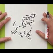 Como dibujar un unicornio paso a paso 3 | How to draw a unicorn 3