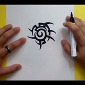Como dibujar un tribal paso a paso 130 | How to draw one tribal 130