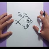 Como dibujar un pez paso a paso 14 | How to draw a fish 14