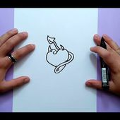 Como dibujar un corazon paso a paso 9 | How to draw a heart 9