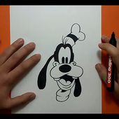 Como dibujar a Goofy paso a paso 2 - Disney | How to draw Goofy 2 - Disney