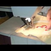 Tutoriel #1~ Comment faire un appliqué en broderie machine ? (Embroidery machine)