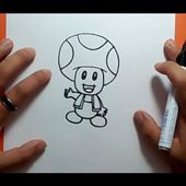 Como dibujar a Toad paso a paso - Videojuegos Mario | How to draw Toad - Mario video games