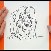 Como dibujar a Simba paso a paso - El rey leon | How to draw Simba - The king lion