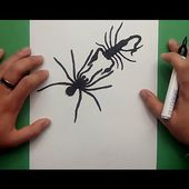 Como dibujar una araña y un escorpion paso a paso | How to draw a spider and a scorpion