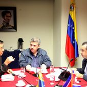 Jon Yong Jin Presents Letter of Credence and Meets with Venezuelan Officials