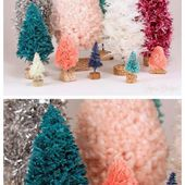 Handmade Bottle Brush Trees with Yarn, Twine, Garland, & Rope - FYNES DESIGNS