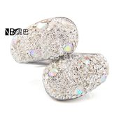 Fashion 316L Stainless steel jewelry Crystal Rhinestones Studded Finger Rings for women-in Rings from Jewelry on Aliexpress.com
