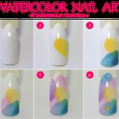Easy Watercolor Nail Art using OPI Sheer Tints (plus swatches and review)