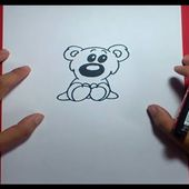 Como dibujar un oso de peluche paso a paso 15 | How to draw a teddy bear 15