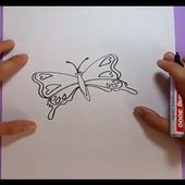 Como dibujar una mariposa paso a paso 7 | How to draw a butterfly 7