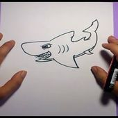 Como dibujar un tiburon paso a paso 5 | How to draw a shark 5
