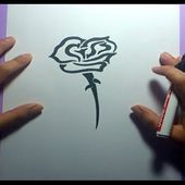 Como dibujar una rosa paso a paso 5 | How to draw a rose 5