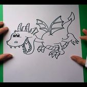 Como dibujar un dragon paso a paso 3 | How to draw one dragon 3