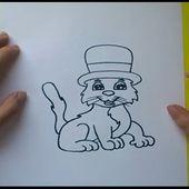 Como dibujar un gato paso a paso 4 | How to draw a cat 4