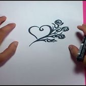 Como dibujar un corazon paso a paso 5 | How to draw a heart 5