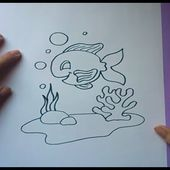 Como dibujar un pez paso a paso 5 | How to draw a fish 5