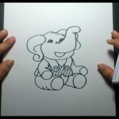 Como dibujar un elefante paso a paso 4 | How to draw an elephant 4