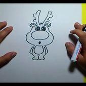 Como dibujar un reno paso a paso 2 | How to draw a reindeer 2