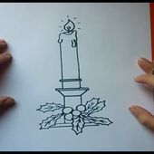 Como dibujar una vela paso a paso 2 | How to draw a candle 2