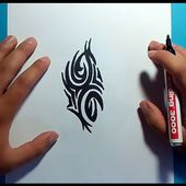 Como dibujar un tribal paso a paso 109 | How to draw one tribal 109