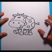 Como dibujar una vaca paso a paso | How to draw a cow