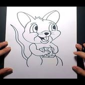 Como dibujar un raton paso a paso 4 | How to draw a mouse 4