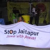 Solidarity action in Germany (Duisburg) for Indian anti nuke movement at Duisburg