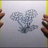 Como dibujar flores paso a paso | How to draw flowers