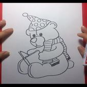 Como dibujar un oso de peluche paso a paso 11 | How to draw a teddy bear 11