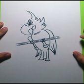 Como dibujar un loro paso a paso 3 | How to draw a parrot 3