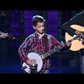 9-Year-Old Plays Banjo on David Letterman Show - Sleepy Man Banjo Boys