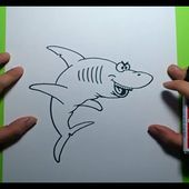 Como dibujar un tiburon paso a paso 4 | How to draw a shark 4