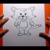 Como dibujar un gato paso a paso 15 | How to draw a cat 15