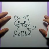 Como dibujar un gato paso a paso 8 | How to draw a cat 8