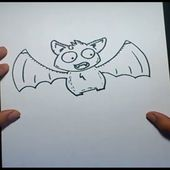 Como dibujar un murcielago paso a paso 4 | How to draw a bat 4