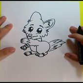 Como dibujar un zorro paso a paso | How to draw a fox
