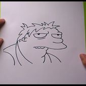 Como dibujar a Barney paso a paso - Los Simpsons | How to draw Barney - The Simpsons
