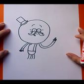 Como dibujar a Pops paso a paso - Un show mas | How to draw Pops - Regular show