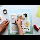 Scrapbooking Process - Page scrapbooking - Be happy