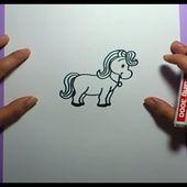 Como dibujar un caballo paso a paso 3 | How to draw a Horse 3
