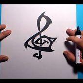 Como dibujar una clave de sol paso a paso 2 | How to draw treble clef 2