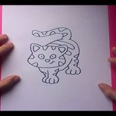 Como dibujar un gato paso a paso 7 | How to draw a cat 7