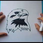 Como dibujar un aguila paso a paso | How to draw an eagle